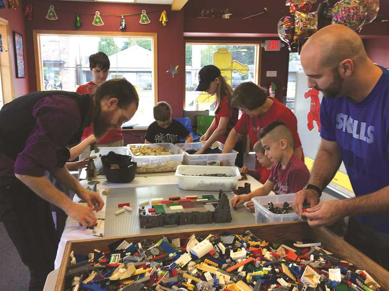 CAROL ROSEN - Building Hogwarts with LEGO's was a fun summer activity.
