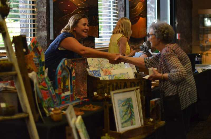 COURTESY PHOTO: GLENN & VIOLA WALTERS CULTURAL ARTS CENTER - The Walters Artisan Pop-up Shop is hosted during every month's First Tuesday Art Walk in downtown Hillsboro on 527 E. Main St., Hillsboro, allowing artists to sell their wares to the public.
