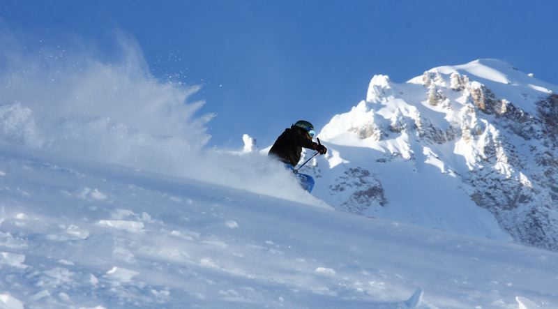 CONTRIBUTED PHOTO: GRANT MYRDAL - Heather Canyon opened Dec. 27, offering expert skiing terrain to the public.