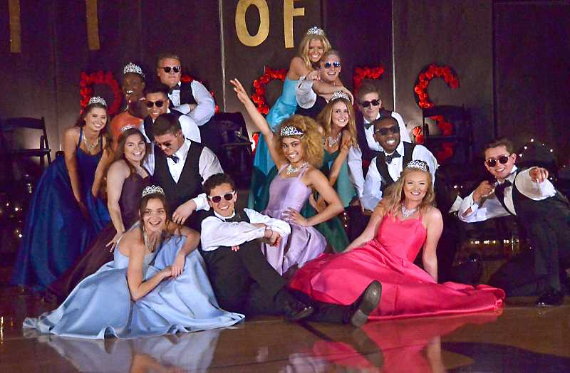 SPOKESMAN PHOTO VERN UYETAKE - 2018 Springfest Court at Wilsonville High School really knew how to have fun at the annual fundraising event.