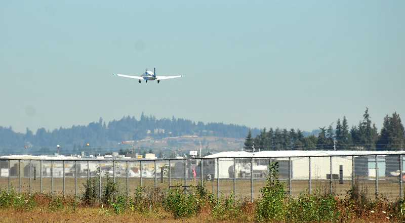 SPOKESMAN FILE PHOTO - The City of Wilsonville has continued to express dismay at proposals to extend the Aurora Airport runway.