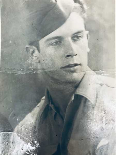 SUBMITTED PHOTO: DELMAR CALVERT - A young Delmar Calvert, photographed here as a member of the French Foreign Legion circa 1940.