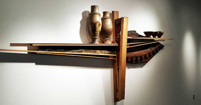 SUBMITTED PHOTO - Andreas Salzman's 'Telegraph' is among the many pieces that will be on display in the Minthorne Gallery at George Fox University through Feb. 22.