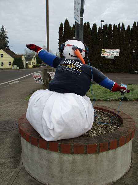 DEBBIE GUNTHER - Canby Now Podcast's 'Doug the Canby Snow Podcaster' wins the $200 grand prize in the first annual snowman contest.