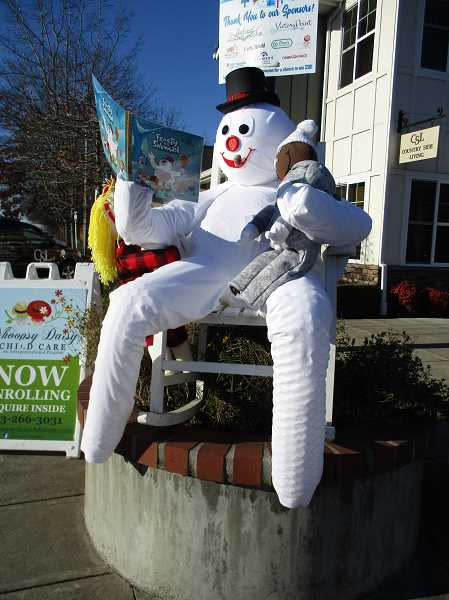DEBBIE GUNTHER - Whoopsy Daisy Child Care's 'Grandpa Frost' wins third place in the snowman contest.