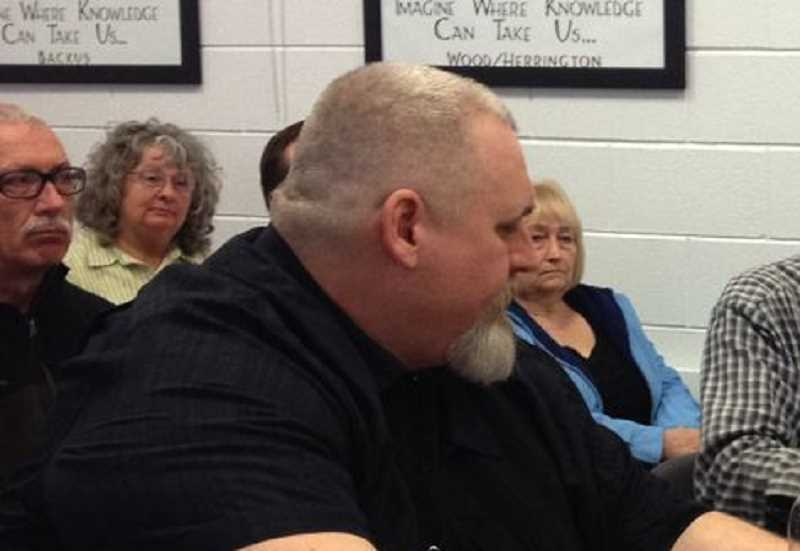 SPOTLIGHT FILE PHOTO - Chris Brumbles, as he appeared in front of the Columbia County Board of Commissioners in 2015 to ask the commissioners to oppose new gun laws.