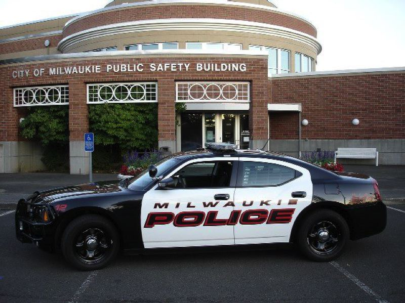 COURTESY MILWAUKIE PD - A Milwaukie police squad car parked in front of the city's public safety building is shown here.