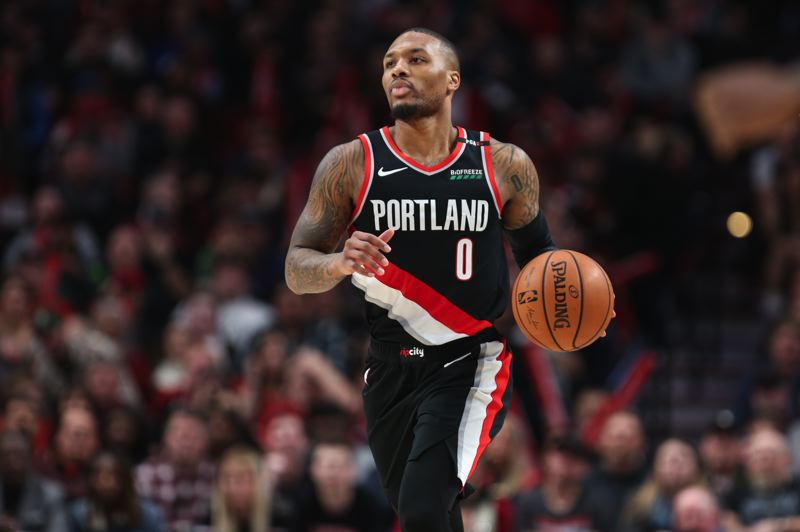 TRIBUNE PHOTO: DAVID BLAIR - Damian Lillard says he likes where the Trail Blazers are in the standings at midseason, and 'I like where our mentality is, too.'
