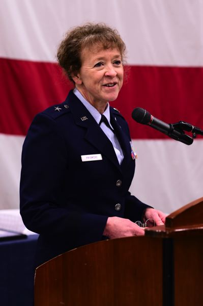COURTESY PHOTO: SGT. 1ST CLASS APRIL DAVIS/OREGON MILITARY DEPARTMENT - Brig. Genl Donna Prigmore was sworn in Saturday, Jan. 5, as the new leader for the Oregon National Guard's Air Component.