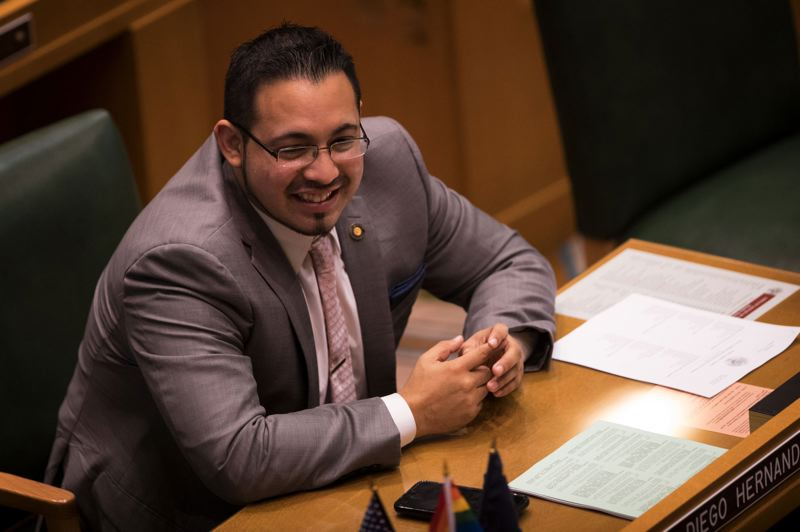 PAMPLIN MEDIA GROUP: JAIME VALDEZ - State Rep. Diego Hernandez, who respresents parts of East Multnomah County, said a report on harassment at the state Capitol was wrong when it accused him of ranking some staff on a list.