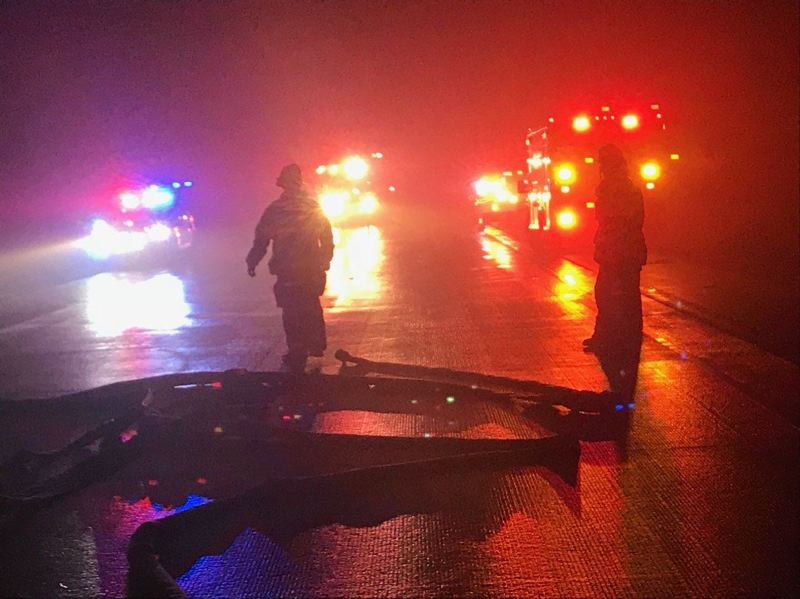 POLICE PHOTO - Authorities responded to a crash that caused multiple fatalities on the Newberg-Dundee bypass on Jan. 7.