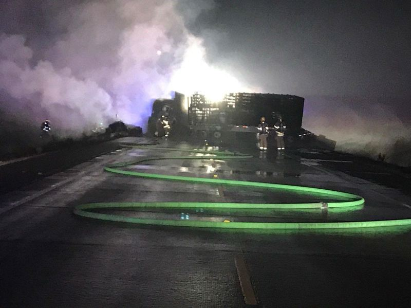 POLICE PHOTO - Authorities responded to a crash that left two dead on the Newberg-Dundee bypass on Jan. 7.
