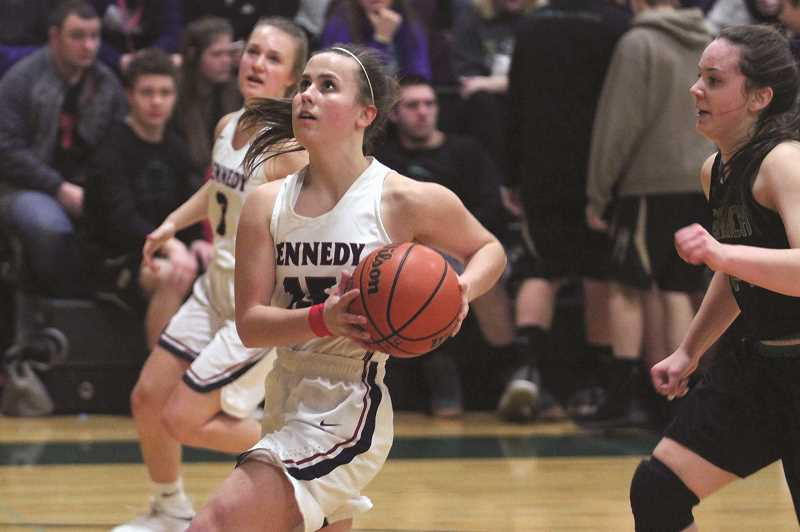 PHIL HAWKINS - Kennedy sophomore Hailey Arritola was named tournament MVP after the No. 1 Trojans won the white bracket of Salem Academys Crusader Classic New Years Invitational.