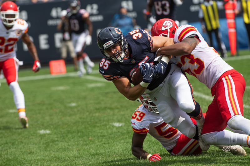 COURTESY: CHICAGO BEARS - Ryan Nall carries the ball for the Chicago Bears in an exhibition victory over the Kansas City Chiefs.