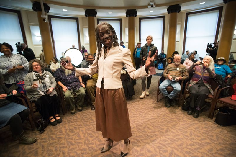 PORTLAND TRIBUNE: JAIME VALDEZ -  Hardesty had a 'here I am' moment shortly before her well-attended swearing-in at City Hall,