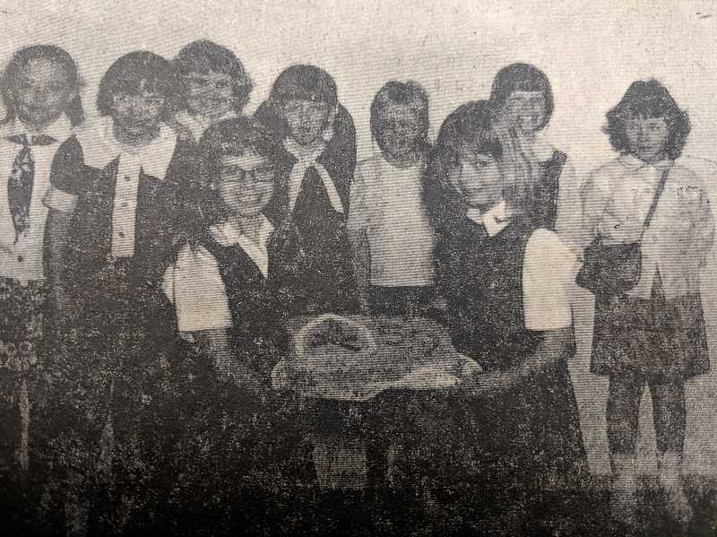 ARCHIVE PHOTO - In 1969, the Estacada Camp Fire Girls were eager to celebrate the organizations 59th anniversary.