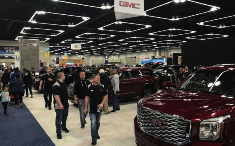 COURTESY: JEFF ZURSCHMEIDE - Attendees walk through lasy year's Portland International Auto Show. The show returns to the Oregon Convention Center Jan. 24-27.