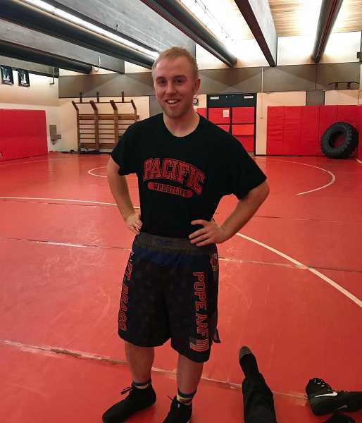 COURTESY PHOTO - Pacific's Jimmy Calhoun has returned to a sport as part of a comeback from life's hardships.