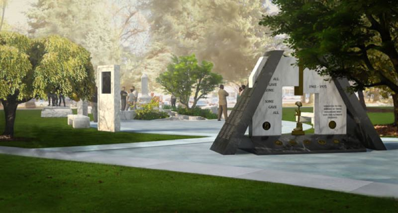 CONTRIBUTED - Artist rendering of proposed Vietnam War Memorial at the State Capitol.
