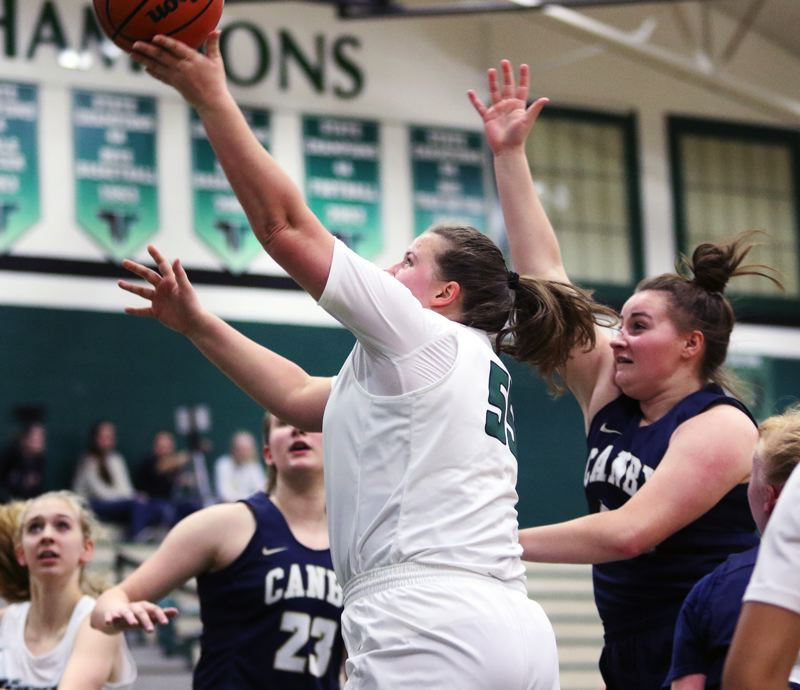 TIMES PHOTO: DAN BROOD - Tigard senior Dani Lyons puts up a shot during the Tigers' win over Canby on Tuesday.