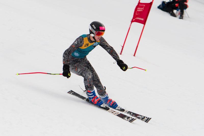 PHOTO COURTESY OF MIKE JULIANA - Senior Tyler Olson helped lead the Tigard boys ski team to a third-place finish at the Kelsey Sportsmanship race.