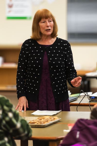 STAFF PHOTO: CHRISTOPHER OERTELL - State Rep. Susan McLain, D-Forest Grove, speaks at a CPO 12C meeting in Cornelius on Tuesday, Jan. 8.