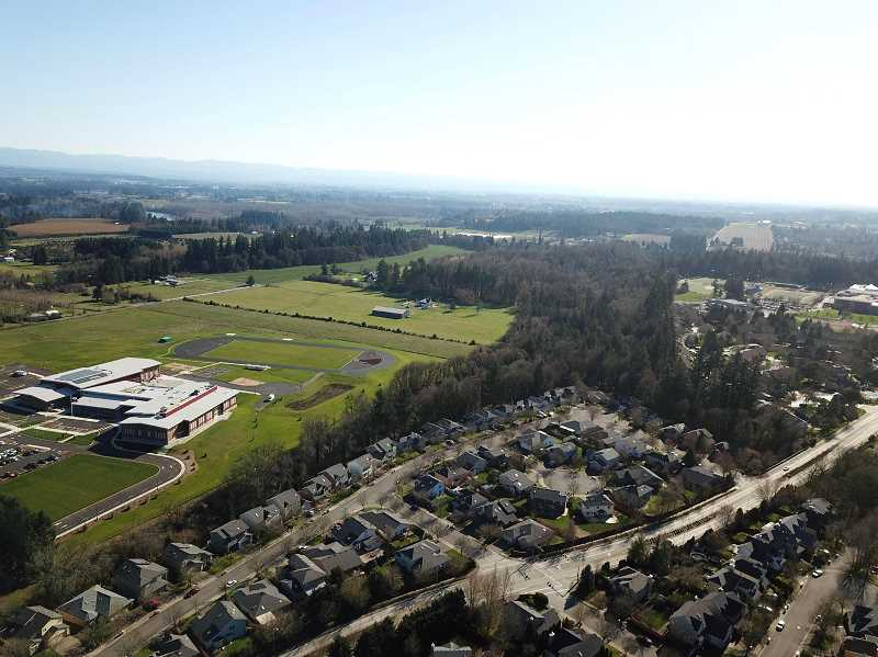 SPOKESMAN FILE PHOTO - Frog Pond South, which already includes Meridian Creek Middle School, was added to the urban growth boundary along with Frog Pond East.