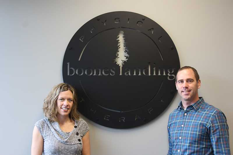 SPOKESMAN PHOTOS: COREY BUCHANAN - Renes and Jason James opened Boones Landing Physical Therapy in September.