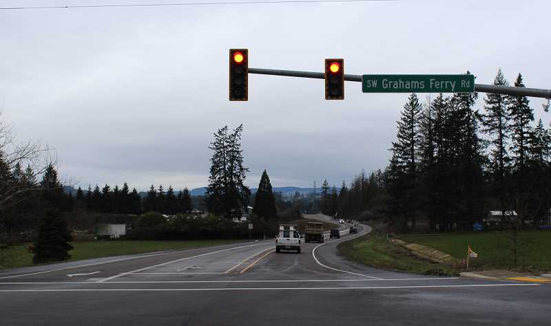 SPOKESMAN PHOTO: COREY BUCHANAN - Basalt Creek Parkway, which connects Grahams Ferry Road and Tualatin-Sherwood Road, opened Jan. 1.
