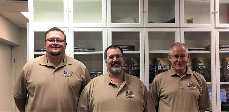 SUBMITTED PHOTO - Marion County Veterans Service Office staff, left to right, James Riddle, Christopher Dyer, Jim Chatman.