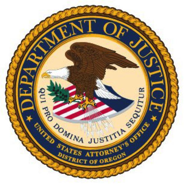 US GOVERNMENT - The seal of the Oregon US Attorneys Office
