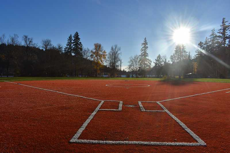 SUBMITTED PHOTO: CITY OF WEST LINN - The City completed renovations at Willamette Park's softball fields in late November.