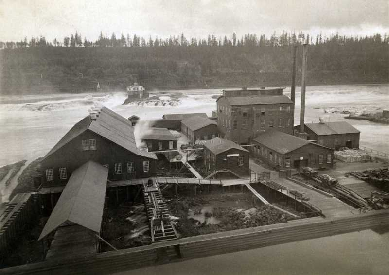 PHOTO COURTESY CLACKAMAS COUNTY HISTORICAL SOCIETY  - PGE's historic T.W. Sullivan hydroelectric plant isn't going anywhere, and any redevelopment plans will have to acknowledge its ongoing presence.