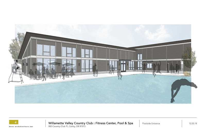 WVCC - Pictured are the plans for the pool, butting up to the fitness structure.