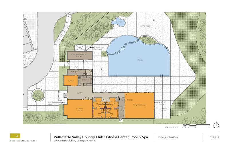 WVCC - Pictured are the plans for Willamette Valley Country Club's fitness center, pool and spa.