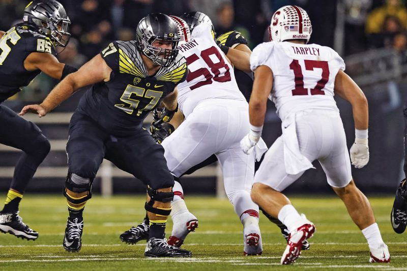 COURTESY OF UNIVERSITY OF OREGON - Doug Brenner was an offensive lineman for the University of Oregon until injuies cut his football career short.