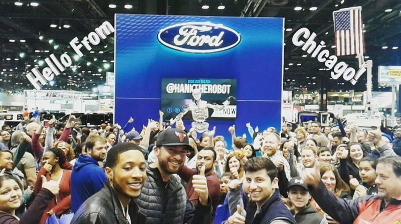 FORD MOTOR COMPANY - Hank  the Roboto has been a big hit at previous auto shows, like this one in Chicago.