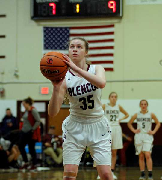 STAFF PHOTO: WADE EVANSON - Glencoe's Mallory Confer shoots a technical free throw during the Tide's game against Forest Grove, Wednesday, Jan. 9, at Glencoe High School.