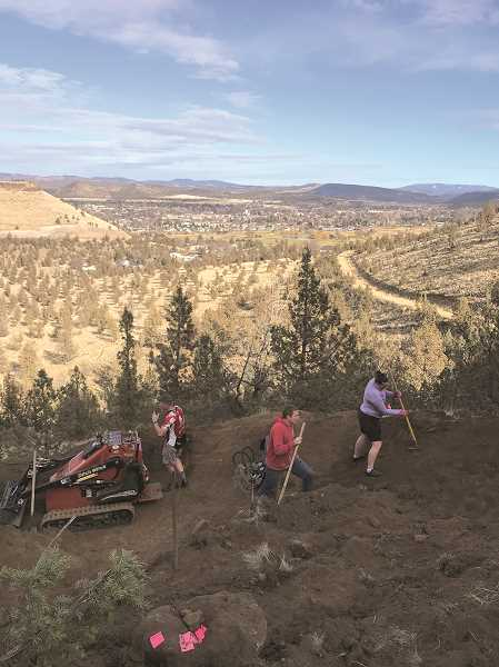 PHOTO SUBMITTED BY AMBER TOOMEY  - Central Oregon Trail Alliance members and volunteers recently teamed up to complete several miles of new trails near the rimrock.