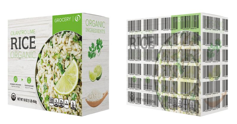 COURTESY: DIGIMARC - Digimarc's technology allows barcodes to be hiding in package graphics, which makes it easier for customers to scan their own shopping at the checkout.