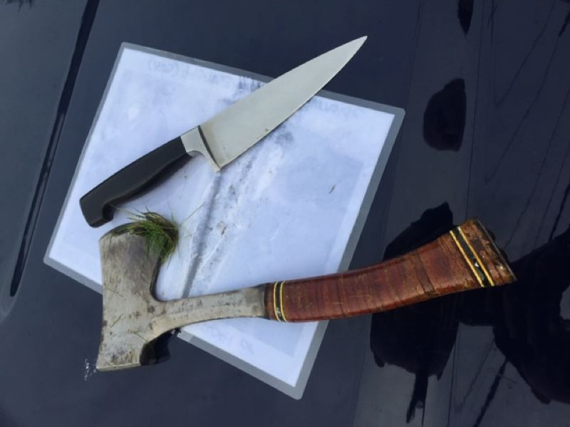 PPB PHOTO - Portland Police say Joseph Coffin was armed with these weapons.