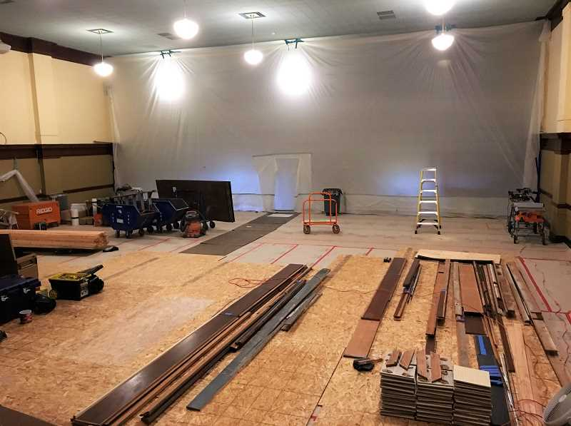 PHOTO COURTESY OF PP&R - Inside the main auditorium at the Multnomah Arts Center as work gets underway to make the building safer if there's ever an earthquake.