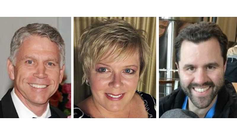 SUBMITTED PHOTOS - Ben Ochs, Belinda Goody and Nick Snead, left to right, have joined the Airshow of the Cascades Board of Directors.