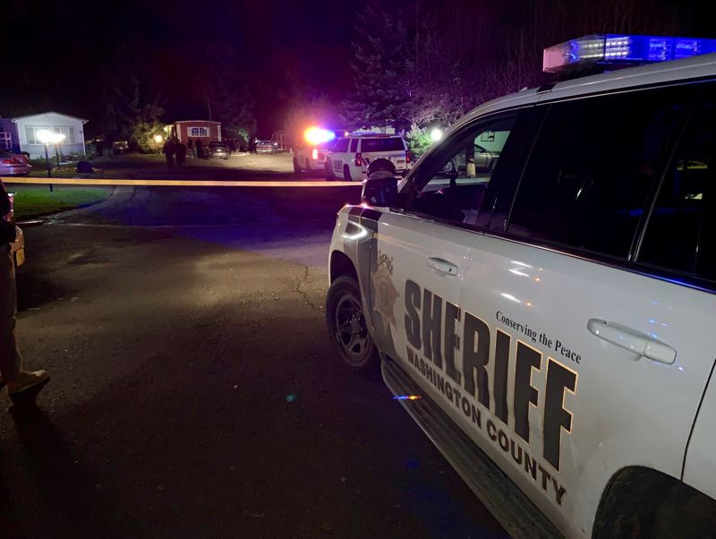 PHOTO: WCSO - Sheriff's deputies are investigating two people found dead Friday, Jan. 11., in Aloha.