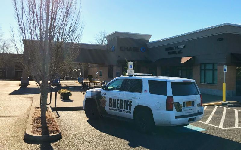 WCSO PHOTO - Police responded to the Chase Bank, 4732 N.W. Bethany Blvd., at 11:09 a.m. on Saturday, Jan. 12.