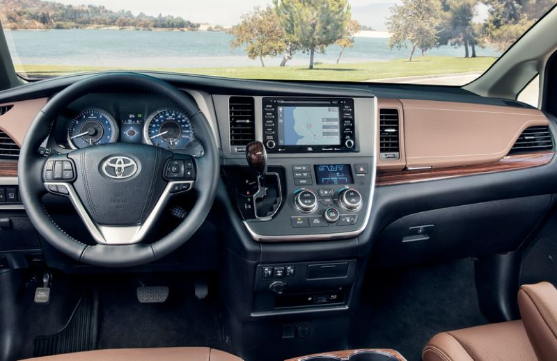 CONTRIBUTED - The dash in the 2019 Toyota Sienna is cleanly designed, with all controls easy to find and use.