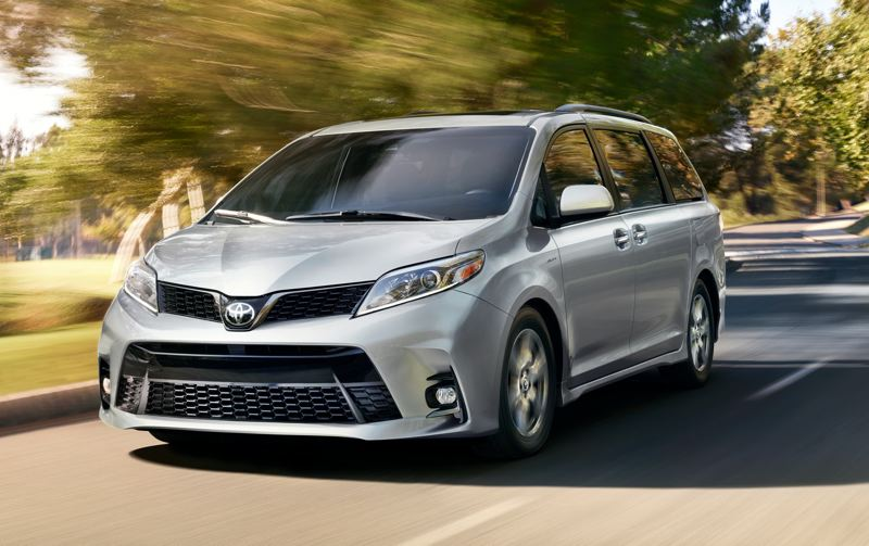 CONTRIBUTED - The exterior of the 2019 Toyota Sienna is conservatively styled, except for the large grill and angular headlights.