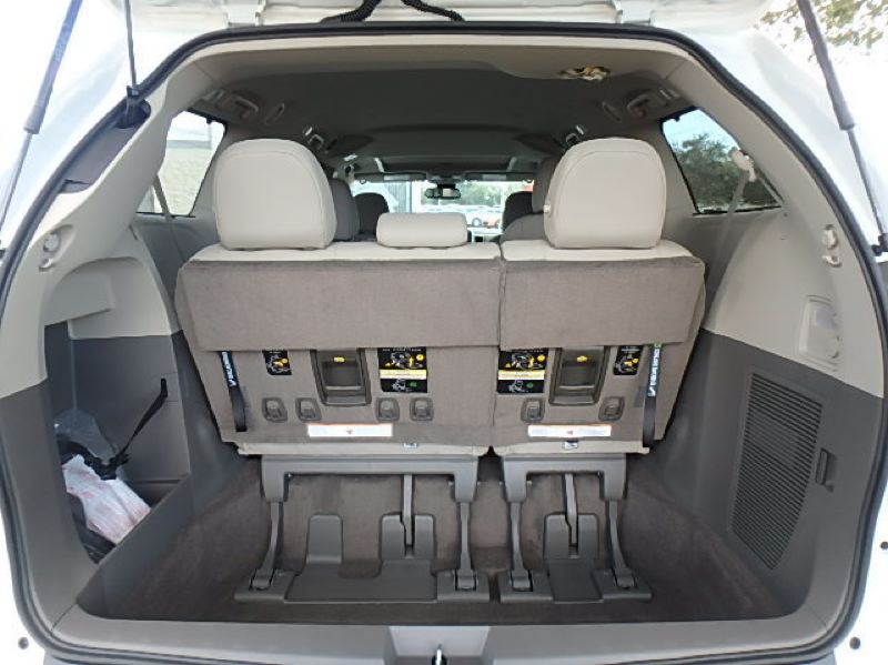 CONTRIBUTED - Cargo space is good in the 2019 Toyota Sienna with the third row up, better with it folded down, and enormous with the second row also removed.