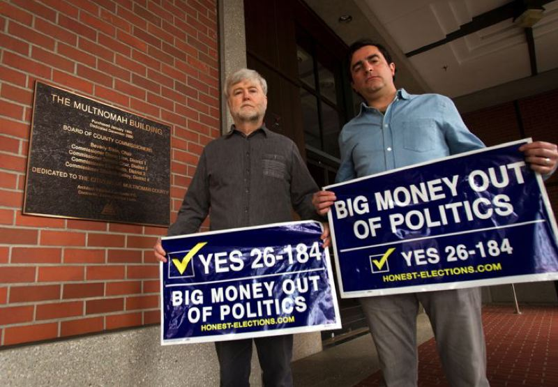 PORTLAND TRIBUNE FILE PHOTO - Multnomah County reform supporters during the previous campaign.