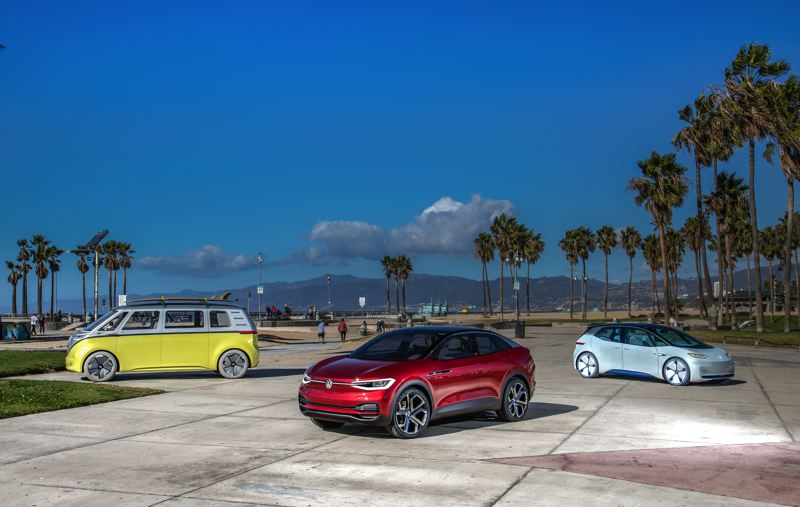 COURTESY VOLKSWAGEN - Concept vehicles offer examples of the EVs that Volkswagen could build at its new plant.